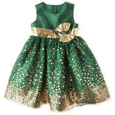 Rosenau™ Newborn Girls' Sequin Dress and Panty - Gold green csu rams baby target Toddler Dress, Toddler Outfits, Baby Dress, Kids Outfits, Infant Toddler, Toddler Girls, Little Dresses, Little Girl Dresses, Cute Dresses