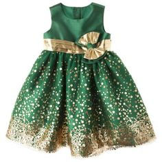Rosenau™ Infant Toddler Girls' Sequin Dress - Gold Cute for new years!