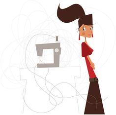 Mad'moiselle C , illustratrice, agence Marie Bastille @Mad'moiselle C . // cette image appartient à son auteur et/ou l'agence Marie Bastille + d'infos sur le site // Bastille, Girly, Marie, Minnie Mouse, Disney Characters, Fictional Characters, Doodles, Clip Art, Graphic Design