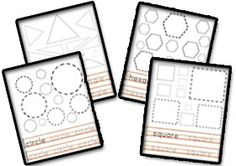 Learning Shapes -Learning Shapes Worksheets for  Shapes for Kids Printables