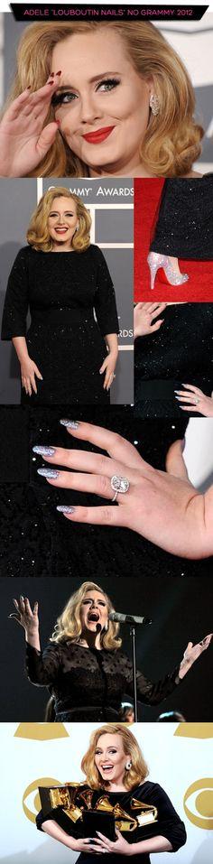 Adele Louboutin nails inspired