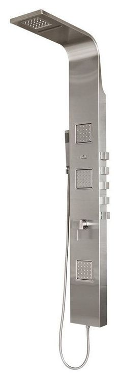 Pulse 1034 Waimea Shower System with Single Function Rain/Waterfall Shower Heads Chrome Faucet Showerpanel Five Handle