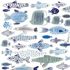 Imprimolandia: Estampados de peces