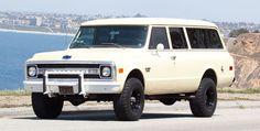 Cherry 3 Door Chevy: 1969 Suburban C20 - Moto Roster