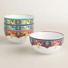4 piece bowl set porcelain bowl cereal bowl dinnerware breakfast bowls #Josephine