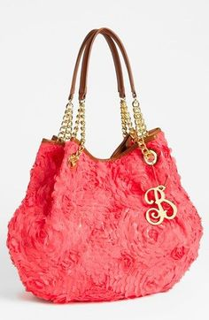 7f6beac2f0c Betsey Johnson  Rose Garden  Tote (Note the monogrammed