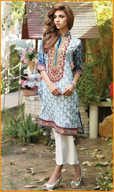 Orient Embroidered Kurti Collection 2016 Vol 1  #Orient #Dresses #KurtiCollection #EmbroideredDresses #PakistaniLawn #PakistaniDresses