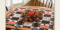 Pumpkins In the Corners Add a Whimsical Touch! Bright Halloween colors make this a fun quilt to enjoy all autumn long. Hang it on a wall or display it on your table to put everyone in the spirit of the season. This beautiful pattern will be charming in deep autumn fabrics, as well, instead of …