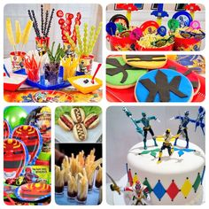 Images Only---Use for ideas for cookies and cake. Dragon Birthday Parties, Superhero Birthday Party, 4th Birthday, Power Ranger Party, Power Ranger Birthday, Power Rangers, Birthday Event Ideas, Alice, Party Time