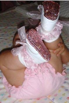 #baby #girl #princess #shoes #bling #pink