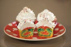 #Cupcakes #Arcoíris con #Alma