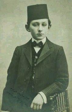 Şehzade (Prince) Ömer Faruk Efendi (1898-1969).  Istanbul, ca. 1910. He was the son of Abdülmecid, the last Ottoman Caliph.