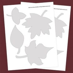 Free leaf patterns for our I'm thankful tree!