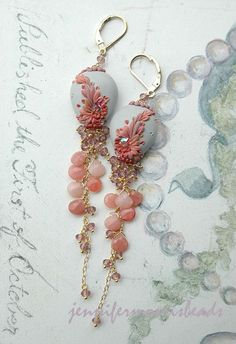 collecting seashells - sweet peruvian opal earrings