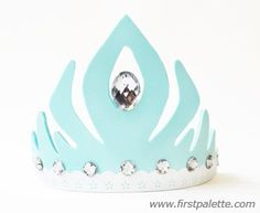 Frozen Princess Crown craft. Free Printable