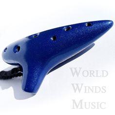 Legend of Zelda Ocarina Flute - Alto - Blue Glaze