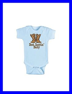 be4b0441e89ce Boot Scootin  Baby BLUE Infant One PC Bodysuit 0 6 Month FREE SHIPPING   fashion