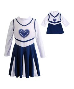 Another great find on #zulily! Navy Heart Cheer Dress & Doll Outfit - Toddler & Girls by Dollie & Me #zulilyfinds