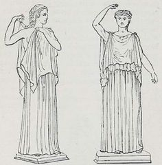 Greek: Diploidia, double Chitons. (Museo Borbonico, vol ii. tav. 4, 6.)