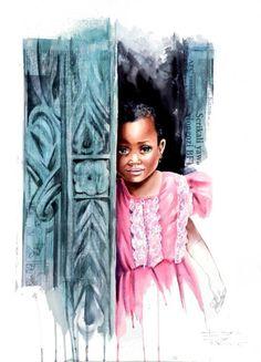 Les secrets de Zanzibar - Painting ©2011 par Sonia Privat -  Peinture