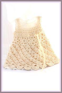 Wind Dancer Crochet Pattern Sundress Sizes 6 mos  by CrochetGarden, $6.99