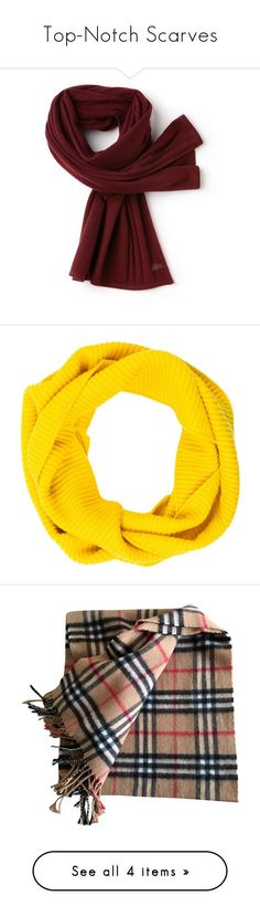 """""""Top-Notch Scarves"""" by imperialfamilyfans ❤ liked on Polyvore featuring accessories, scarves, cashmere scarves, jersey scarves, cashmere shawls, lacoste, yellow, yellow shawl, loop scarf and yellow scarves"""