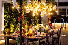 Wedding decoration by tea rose wedding designer at bridestory pullman jakarta outdoor venues wedding stage over the top magical wedding event decor bridal table indonesia wedding decorations junglespirit Gallery