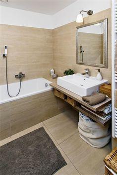 Koupelna - barvy, polička pod umyvadlem