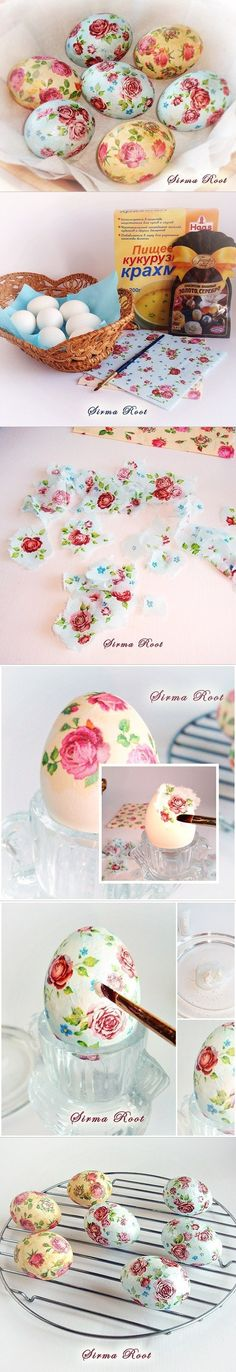 flower patterned easter egg tutorial