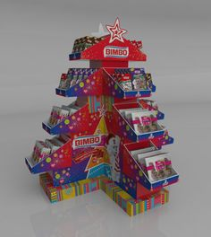 Exhibidor Navidad by Carolina Cañón Moreno, via Behance