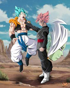 Gogeta ssjgssj vs Black Goku ssg Pink versión 2.