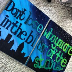 canvas painting quotes | Two Canvas Quote Painting on Wanelo