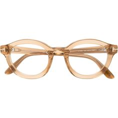 3ba4c92d2f4a Tom Ford Eyewear round frame glasses ($450) ❤ liked on Polyvore featuring  accessories, eyewear, eyeglasses, nude, tom ford eyeglasses, tom ford, ...
