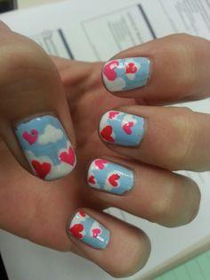 Diy valentine nails