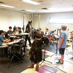 Rock Star Camp final rehearsals! Catch them tomorrow at Mission Heights Preparatory at Noon. $3 admission along with teen musical theatre. #bbfcamp2015