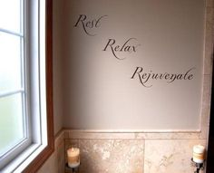 items similar to rest relax rejuvenate matte finish bathroom wall decal on etsy