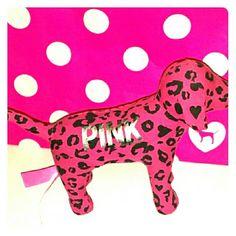 1 PINK dog 1 pink and black cheetah print dog PINK Victoria's Secret Accessories