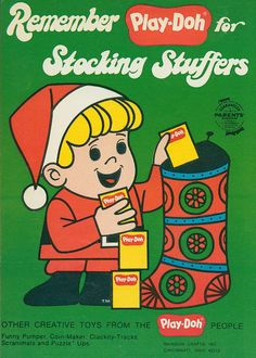 Play-Doh for Christmas stocking stuffers (1969 vintage ad)