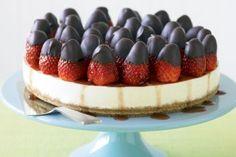 Yoghurt, rosewater & strawberry cheesecake