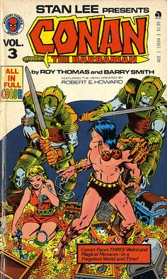 Conan the Barbarian Paperback. I had all the volumes in this series, as well as others featuring Spider-Man, the Hulk, the FF, and others..!