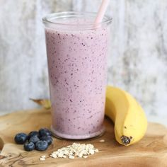 Breakfast smoothie with blueberries and banana – Mariëlle in the Kitchen Lunch Smoothie, Smoothie Prep, Breakfast Smoothies, Smoothie Drinks, Apple Smoothies, Healthy Smoothies, Natural Yogurt, Brunch, Exotic Food