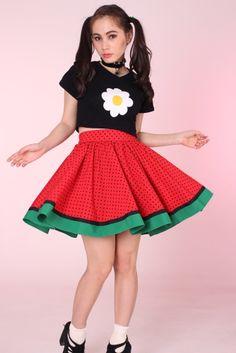 Glitters For Dinners- Polka Dot Watermelon Skirt
