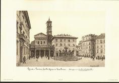 Stonebreaker Fine Art Gallery - Lithograph: Roma - Piazza Santa Maria in Trastevere, $35.00 (http://www.aliciajstonebreakergallery.com/lithograph-roma-piazza-santa-maria-in-trastevere/)