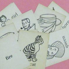 vintage flash cards