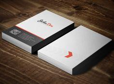 Шаблоны визиток в стиле минимализма