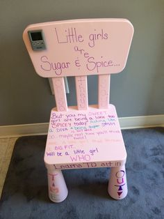 Time Out Chair With Timer children's time out chairrandomactofcrafts on etsy, $20.00
