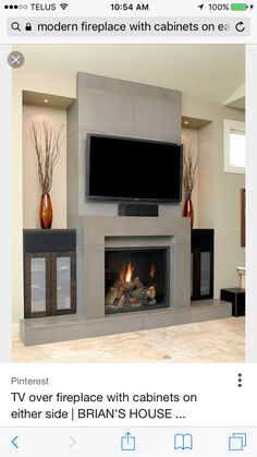 Interior Fireplace Designs With Tv Above, Fireplace, Wall Tv Home Interior Gas Fireplace Mantel Ideas With TV Gas Fireplace Mantel Ideas With Tv. Gas Fireplace Mantel Ideas With Tv Design. Gas Fireplace Mantel Ideas With Tv Home Interior. Diy Fireplace Mantel, Tv Over Fireplace, Concrete Fireplace, Living Room With Fireplace, Fireplace Surrounds, Fireplace Ideas, Mantel Ideas, Classic Fireplace, Linear Fireplace