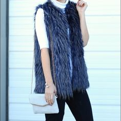 BEST DRESSED HP Faux Fur Vest This adorable vest is one of the most popular styles right now! I absolutely love the color and pattern of this vest it is simply amazing.                Photos are from simply sutter blog! Jackets & Coats Vests