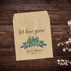 Botanical Wedding Favor Custom Seed Packets Wedding Seed