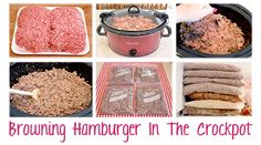 Hamburger cooked in crockpot